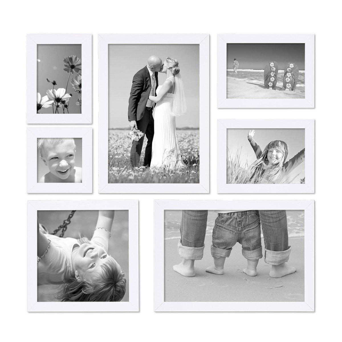 Amazon.de: Photolini 7er Set Bilderrahmen 10x10 10x15 13x18 20x20 ...