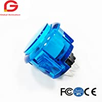 10pcs Transparent No LED Arcade 30mm Push Button Replace SANWA OBSF-30 OBSN-30 OBSC-30 for DIY Raspberry Pi MAME PC…