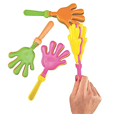 Plastic Hand Clappers, pack of 12: Toys & Games [5Bkhe1905113]