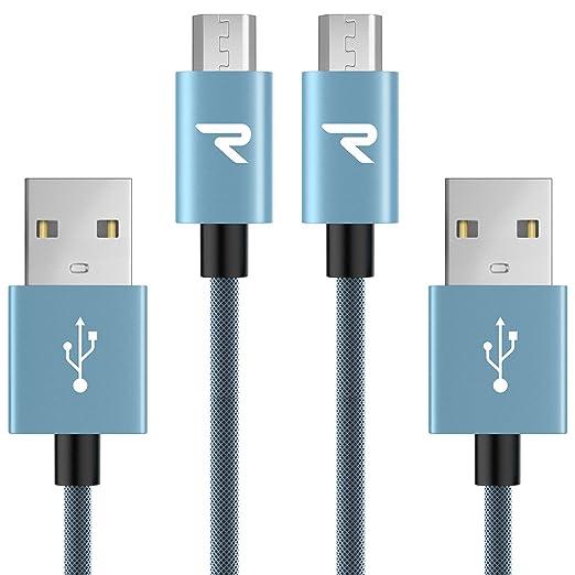 2520 opinioni per Rampow® Cavo Micro USB [ 2-Pezzi ]- 1m -Carica Rapida- GARANZIA A VITA –