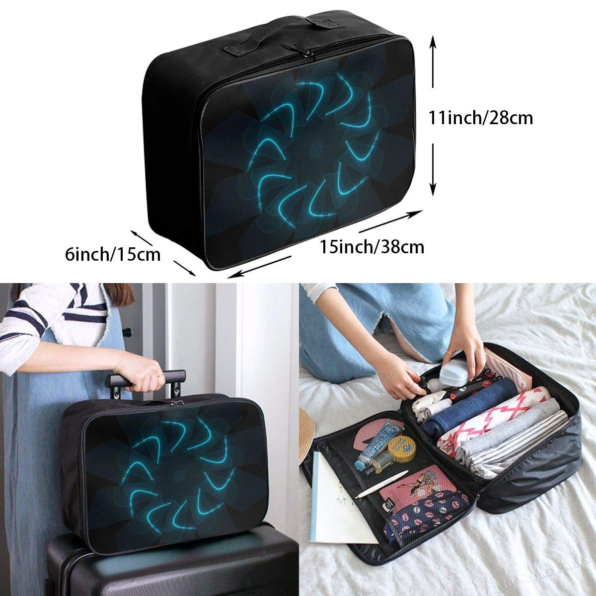 Artistic Color Perfect Travel Lightweight Waterproof Foldable Storage Carry Luggage Large Capacity Portable Luggage Bag Duffel Bag