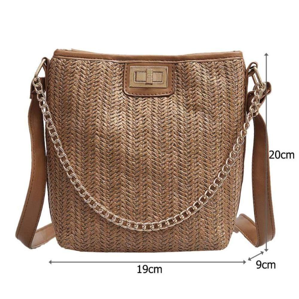 Mode halm vävd crossbody väska för kvinnor axelväskor strand messenger handväskor påse en Dos damväskor Mujer 2