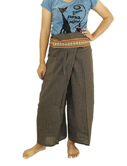 Ayutthaya Fisherman - Pantalones de Yoga 100% algodón Pesado ...