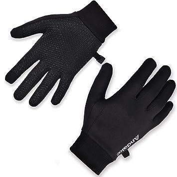 f0c474f9f53089 Andake Touchscreen Funktion, leicht weich dünn warm, Innenhandschuhe  Fahrradhandschuhe Laufhandschuhe Fitness Winterhandschuhe Laufen Fahrrad
