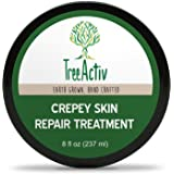 TreeActiv Crepey Skin Repair Treatment | Anti-Aging | Anti-Wrinkle | Organic Ingredients for Face, Neck, Chest, Legs & Arms | Hyaluronic Acid, Alpha Hydroxy Fruit Acids, Honey, Shea, Castor
