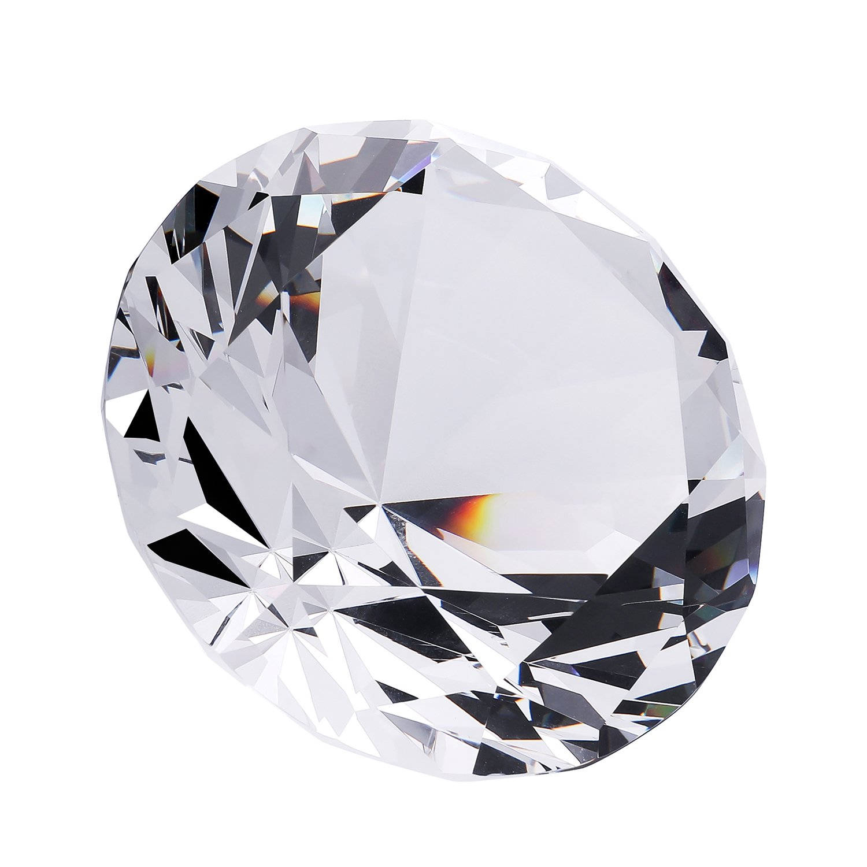 Große Diamant Kristall Glas Briefbeschwerer Home Office Decor Geschenke (7,6 cm) B07DH5F6TQ | Starker Wert