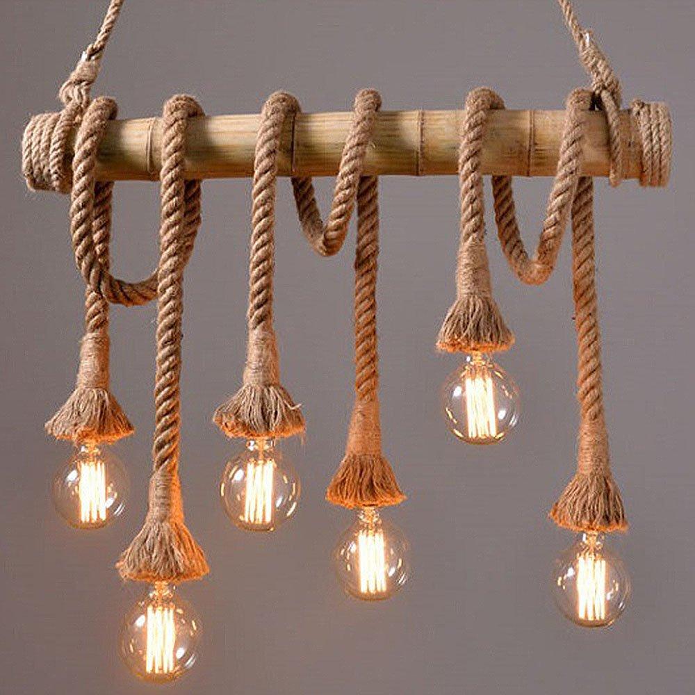 Uni Globe Salle De Bain ~ suspension industrielle r tro corde lustre lampe suspension 6