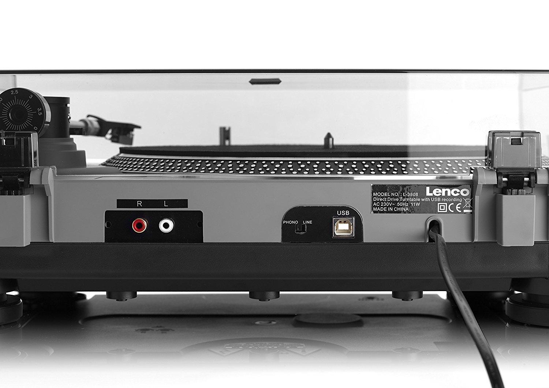 Lenco L-3808 - Tocadiscos (Tocadiscos de tracción Directa, Negro ...