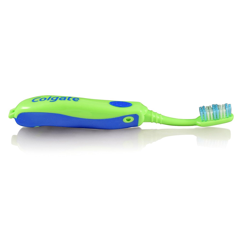 , 5Pack cepillo de dientes eléctrico Colgate plegable suave parte inferior de color verde y 5 unidades de 1 pieza: Amazon.es: Salud y cuidado personal