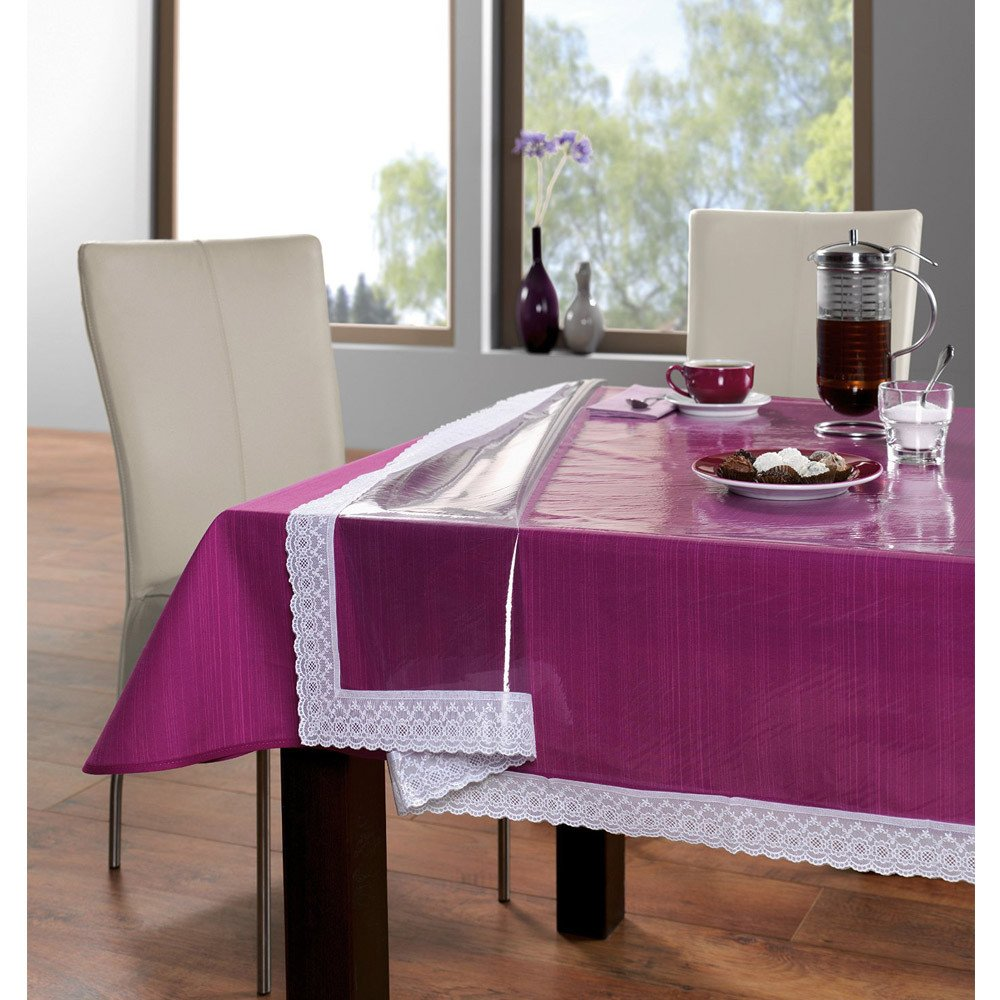 Buy Freelance PVC Plastic Transparent Clear Dining Table Cover Cloth  Tablecloth Waterproof Protector, 6   8 Seater, 60 X 90 Inches, Rectangle  (with ...
