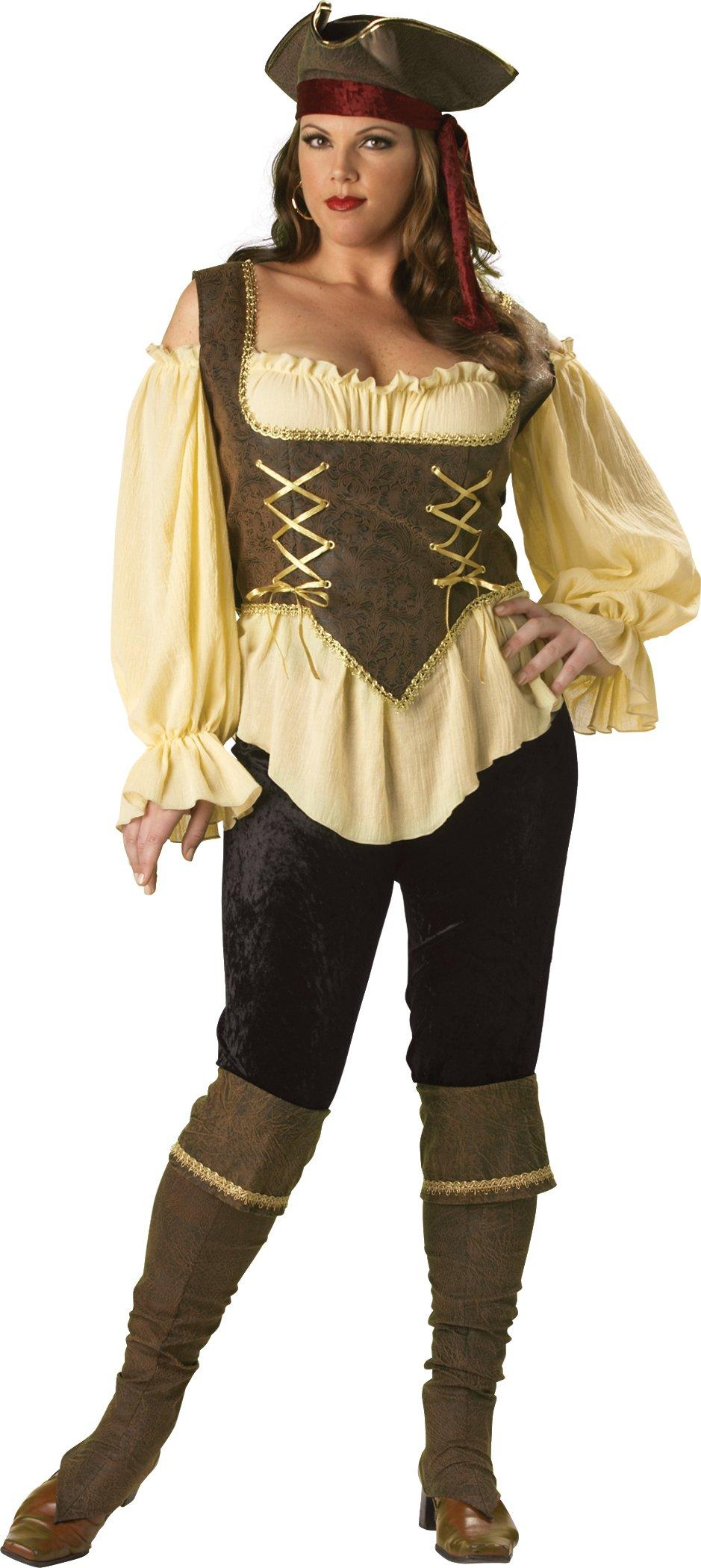 InCharacter Women's Rustic Pirate Lady Costume - 2X - Tan/Brown
