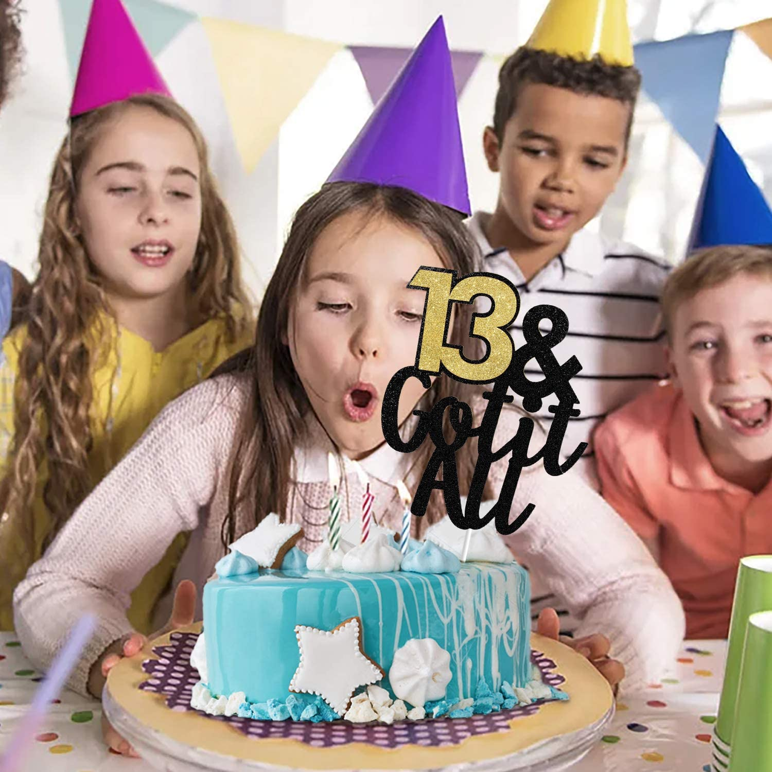 13 /& Got It All Cake Topper Official Teenager 13 Cake Decor Happy 13th Birthday Party Decorations