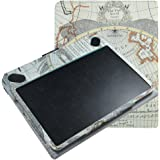 Wacom Intuos CTL-490 CTH-490 Case,Mama Mouth Slim-Book Folio Carry PU Leather Cover for Wacom Intuos Draw CTL-490DW-S CTL-490DB-S/ Art CTH-490AK-S CTH-490AB-S / Photo CTH-490PK-S / Comic CTH-490CK-S CTH-490CB-S Graphics Pen Tablet - Small,Map White