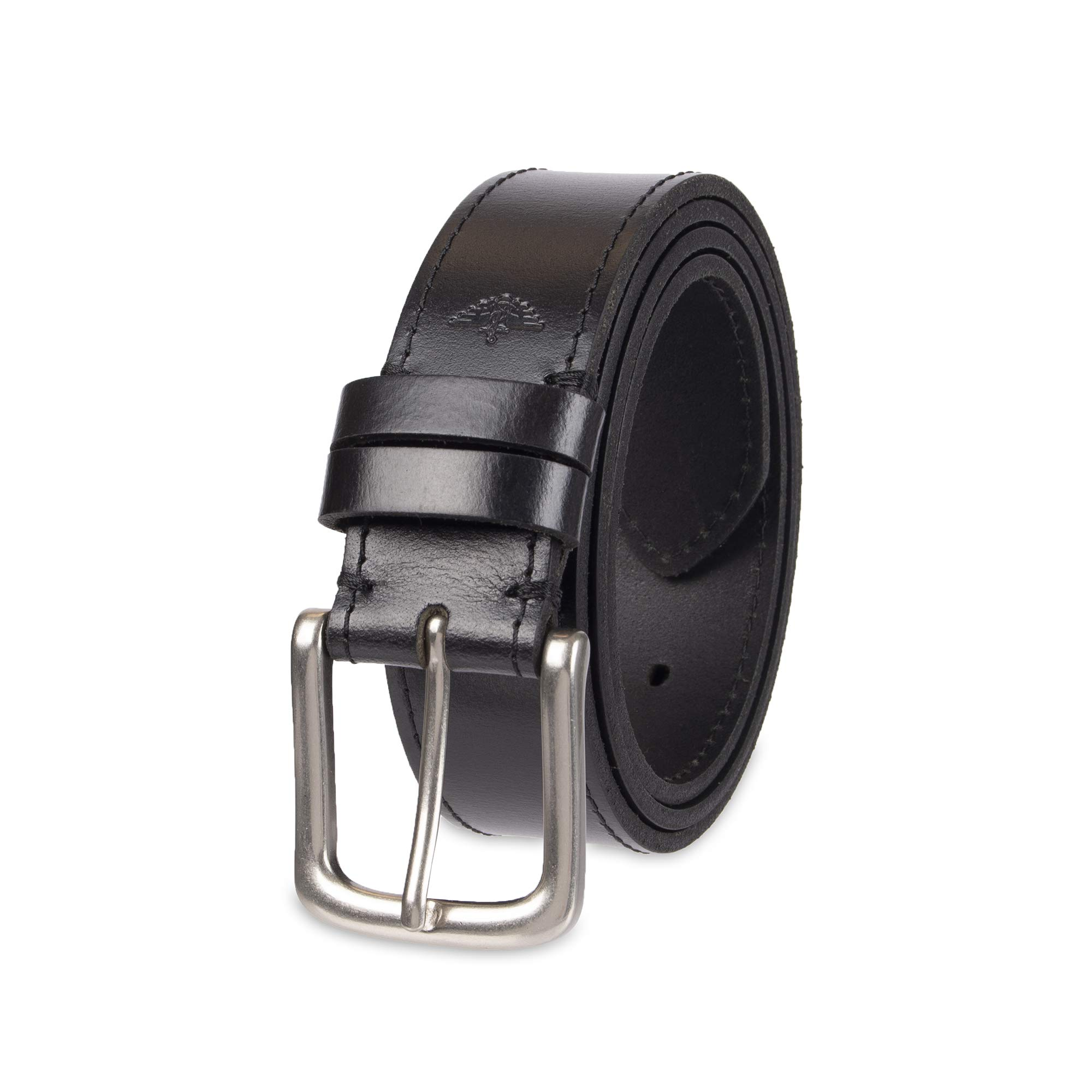 Dockers Men's Casual Leather Belt - 100% Soft Top Grain Genuine Leather Strap with Classic Prong Buckle, Black,3X