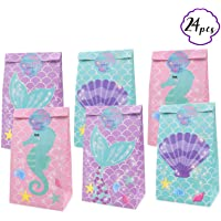 Yaaaaasss! Little Mermaid Party Favor Bags Mermaid Candy Bags Under The Sea Baby Shower Party Supplies Goodie Bags, Set…