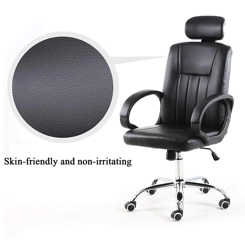 GAOPANG kontorsstol dator skrivbordsstol spel – ergonomisk hög rygg mjuk kudde bekväm korsryggsstöd med hjul, justerbar svängbar rullande hem Svart