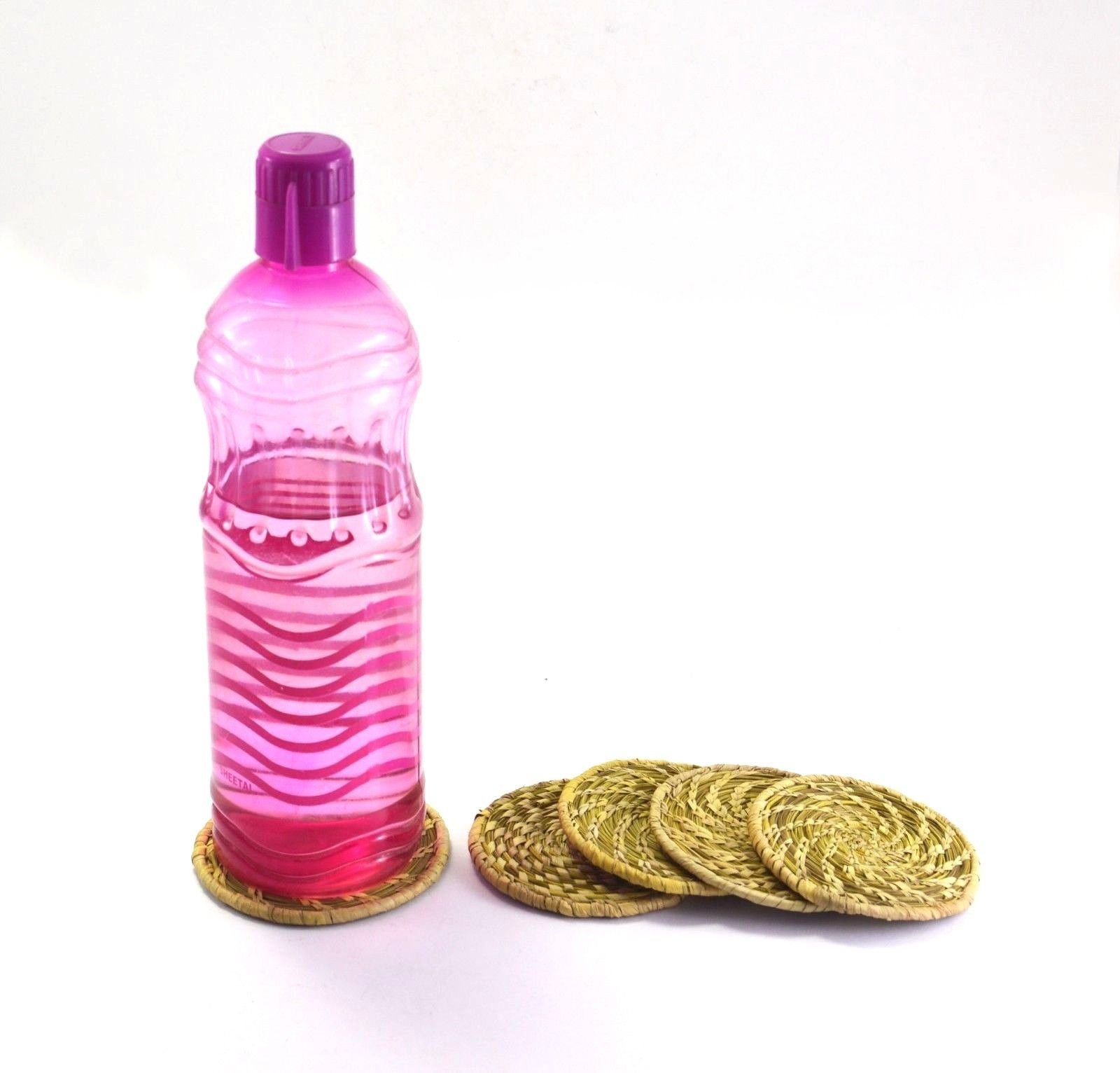 Handmade Table Water Bottle Mark Protector Grass Dinning Table Decor by Royalindia INC (Image #1)
