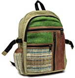 Himalayan's Multi Pocket Hemp Canvas Backpack with Laptop Sleeve Built In.