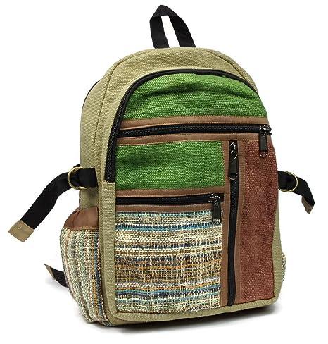 Del Himalaya de Multi bolsillo cáñamo lienzo mochila funda para portátil con construido en.