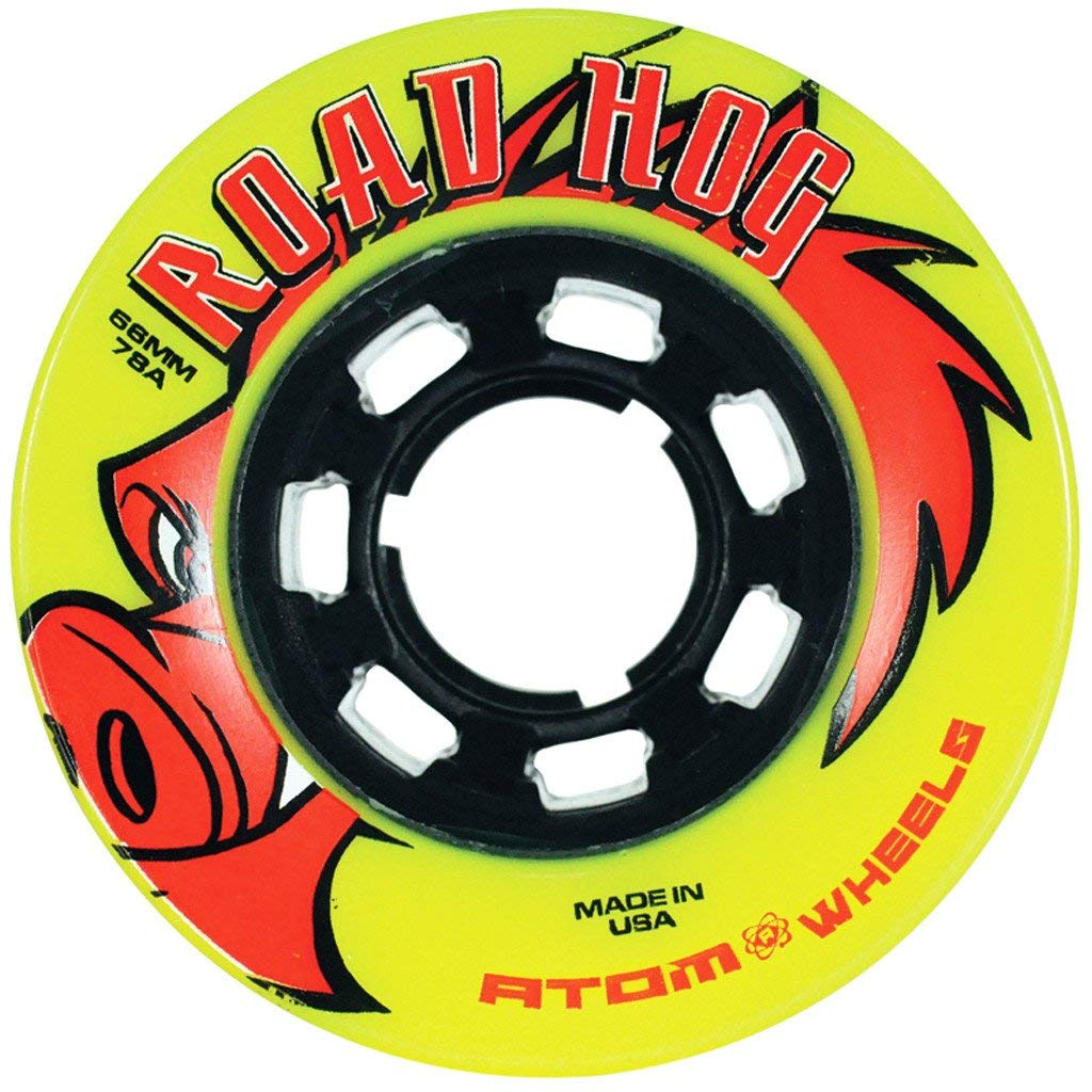 66x42mm Atom Skates Outdoor Roadhog Wheels QWA1500 Yellow
