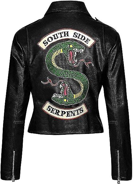 povertà regno mille dollari  Hswear - Giacca da Donna in Pelle Rossa Fuax con Logo Serpente: Amazon.it:  Abbigliamento