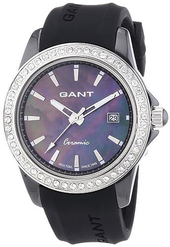 GANT W70441 - Reloj analógico de Cuarzo para Mujer con Correa de plástico, Color Negro: Amazon.es: Relojes