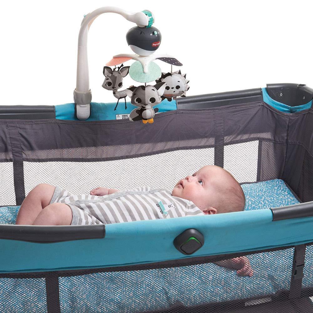 0M+ Magical Tales black /& white Tiny Love Baby-Mobile Take Along Musik-Mobile f/ür unterwegs und zuhause l/ässt sich einfach an Babyschale und Kinderwagen befestigen Baby-Spieluhr ab der Geburt