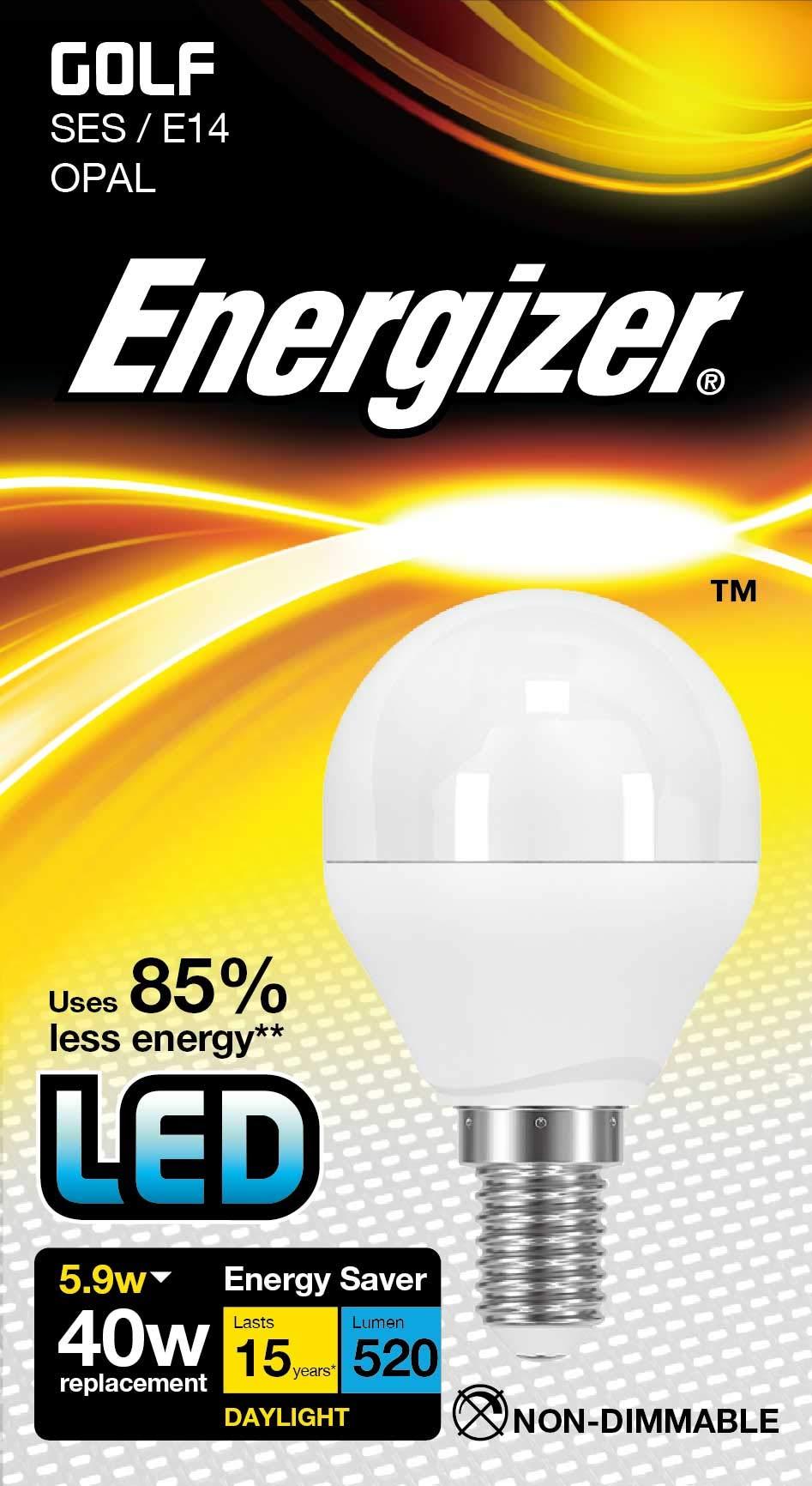 Energizer LED Energy Saving Lightbulb, E14, Daylight