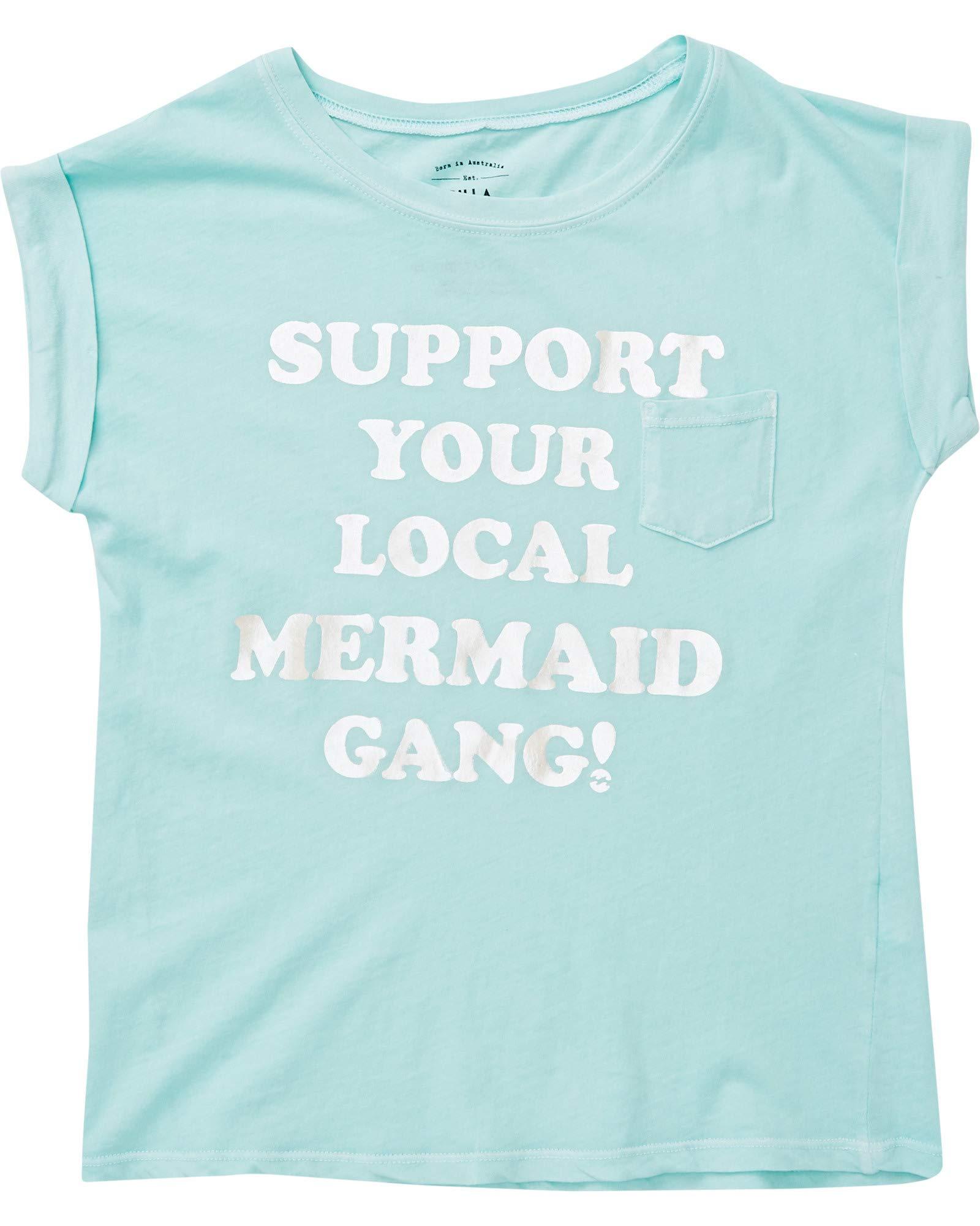 Billabong Big Girls' Mermaid Gang Tee, Beach Glass, S