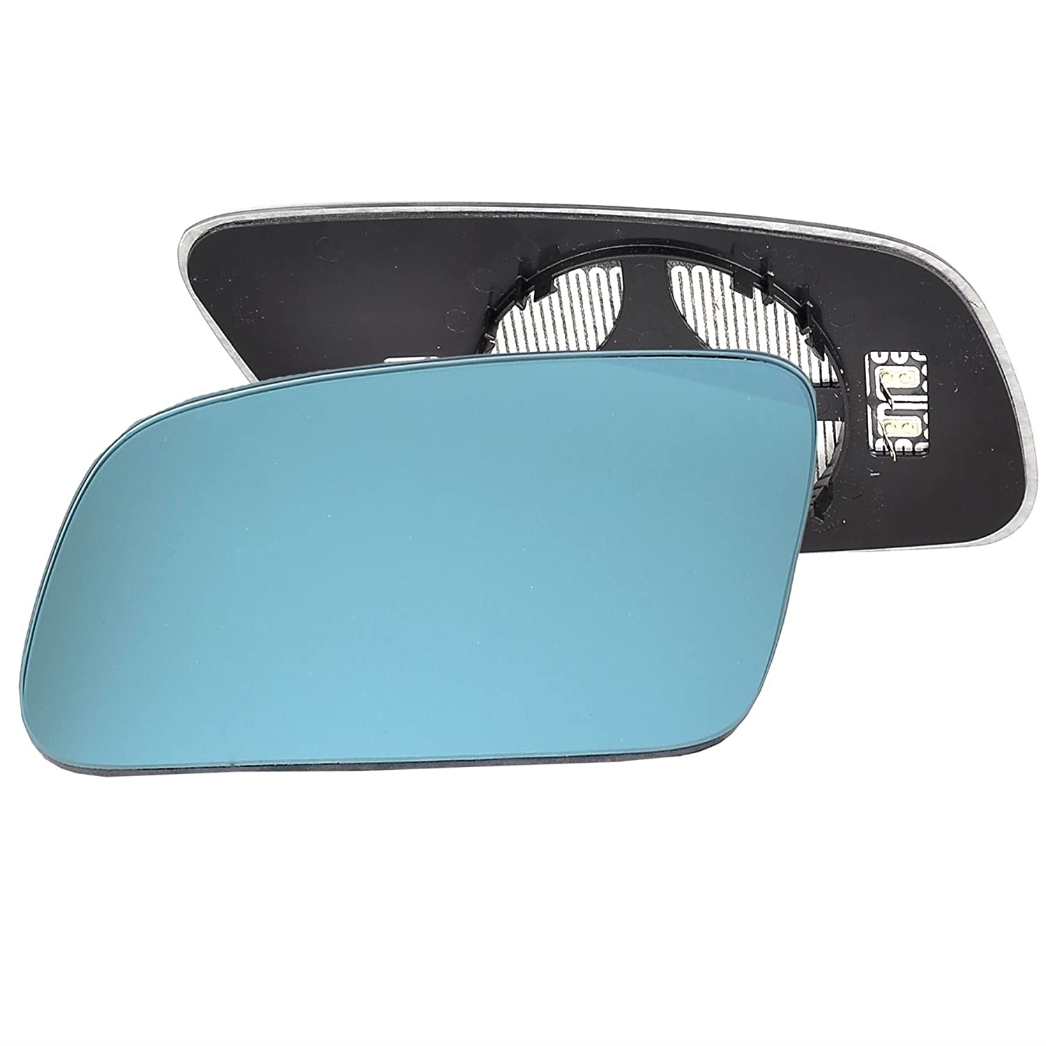 Passenger left hand side Heated wing door Blue mirror glass with backing plate #C-BHY/L-AIA300 [Clip On]