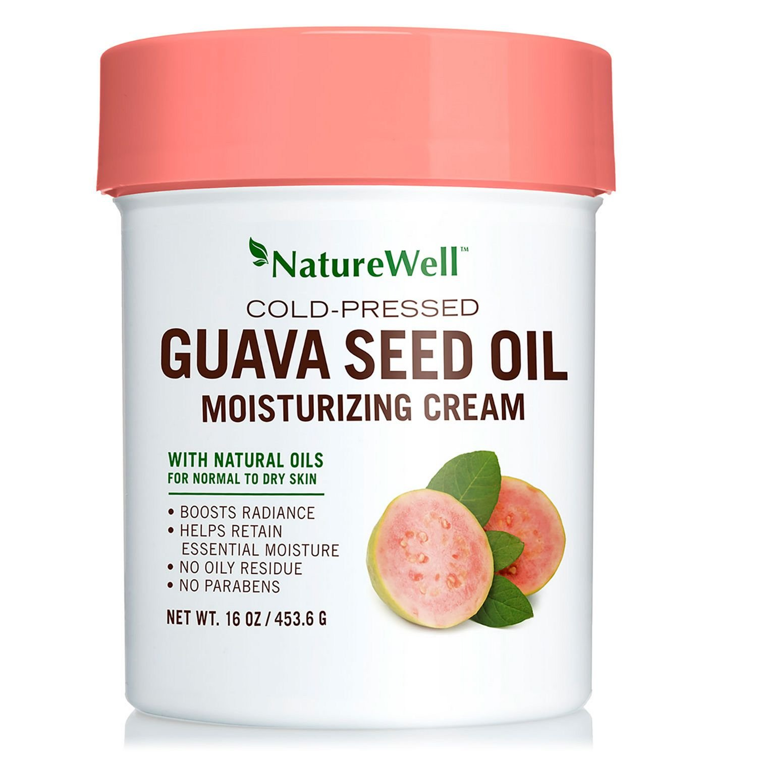 NatureWell Cold-Pressed Guava Seed Oil Moisturizing Cream, 16 oz