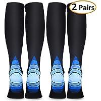 Compression Socks for Women & Men, Deilin Graduated Compression Sock 20-30 mmhg for Running, Athletic Sports, Flight Travel, Nurses, Maternity Pregnancy, Shin Splints, Edema, Varicose Veins