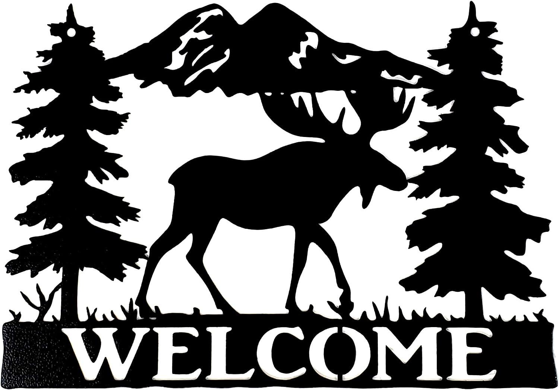 Burnett Metal Art Moose Sign