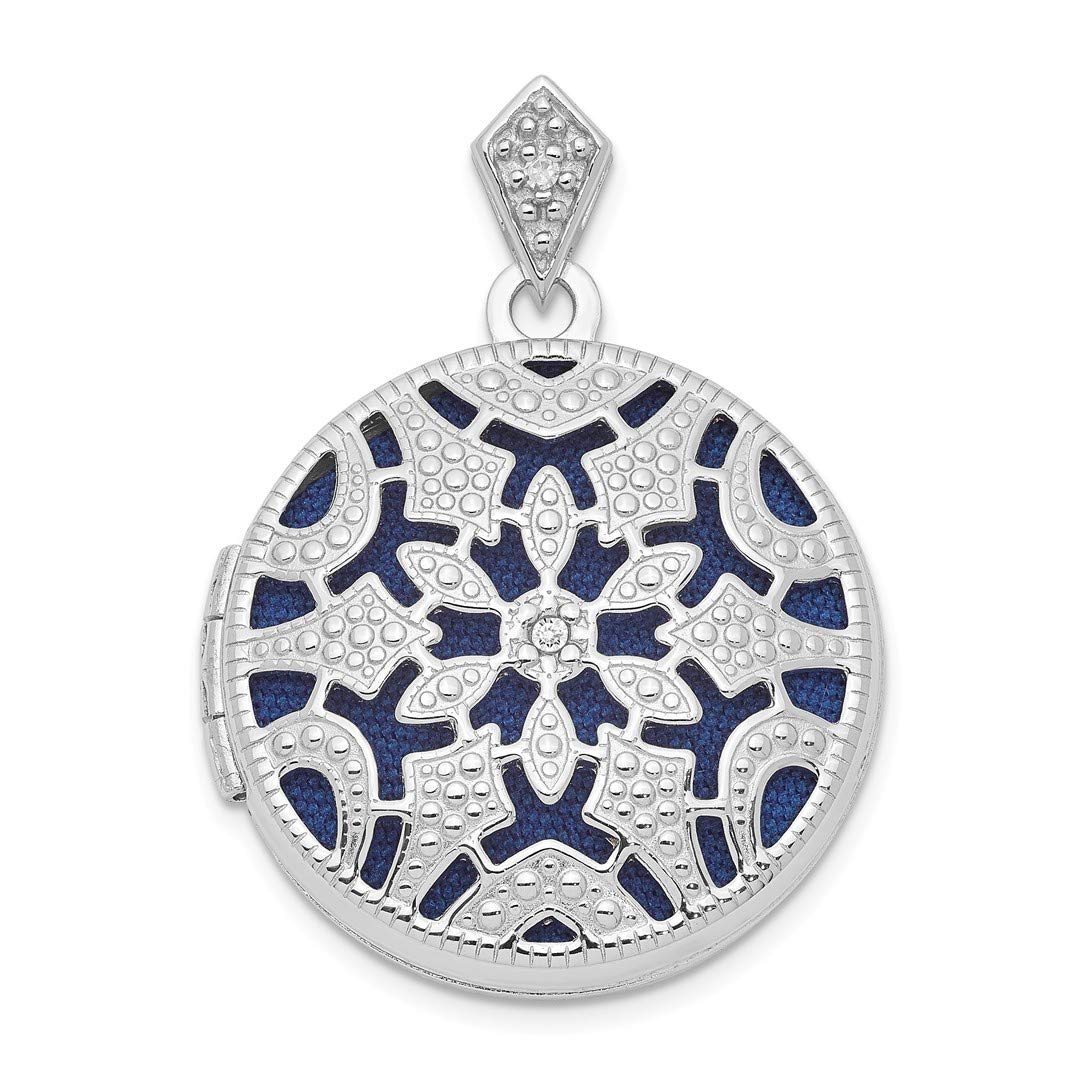 ICE CARATS 925 Sterling Silver 20mm Round Diamond Vintage Photo Pendant Charm Locket Chain Necklace That Holds Pictures Shaped Fine Jewelry Ideal Gifts For Women Gift Set From Heart