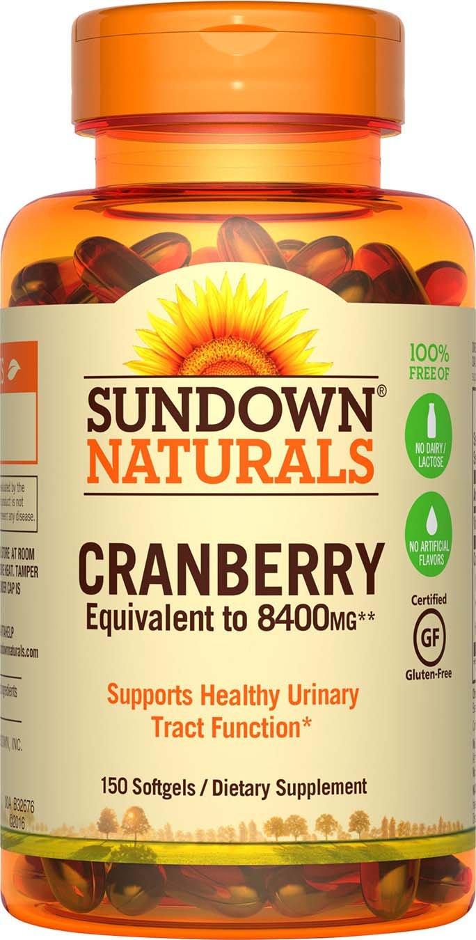 Amazon.com: Sundown Naturals® Super Cranberry 8400 mg Plus Vitamin D3 1000 IU, 150 Softgels: Health & Personal Care