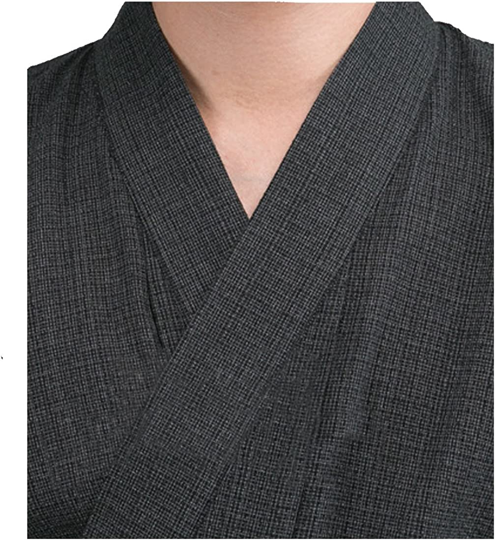 MAYSONG Mens Japanese Yukata Japanese Kimono Embroidered Robe Pajamas Dressing Gown