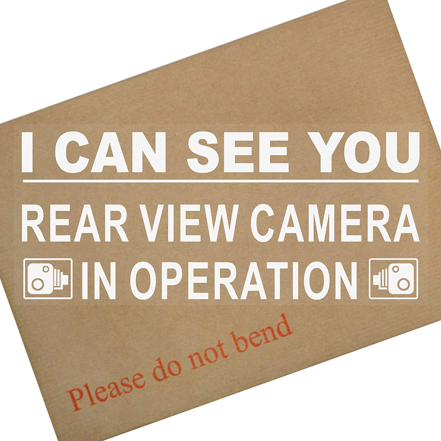 Platinum Place 1 x Window Sticker-I Can See You-Rear View Camera In Operation Security Warning-200mm x 87mm-CCTV Sign-Van, Lorry, Truck, Taxi, Bus, Mini Cab, Minicab