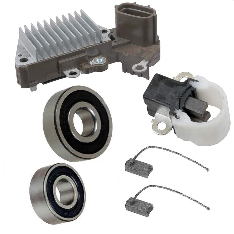 Bearings Alternator Rebuild Kit for 1997-2001 Toyota Camry 2.2L Regulator Brushes