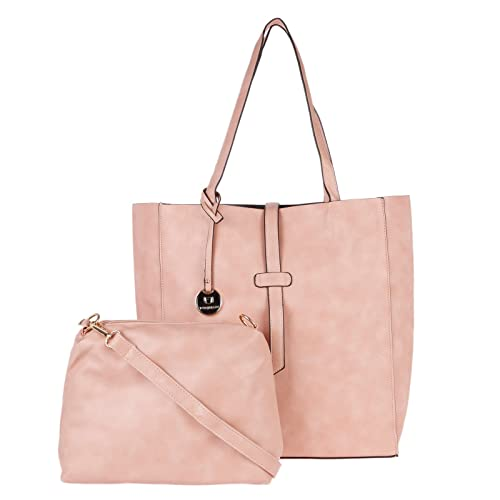 5f3f6dbfc0 Fur Jaden Coral Pink Tote Handbag for Women with Sling Bag Combo ...