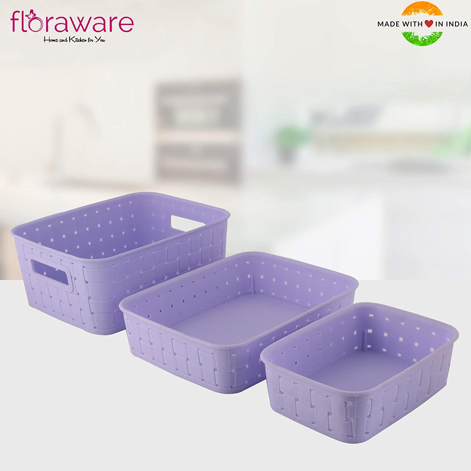 Floraware Smart Baskets for Storage, Set of 3