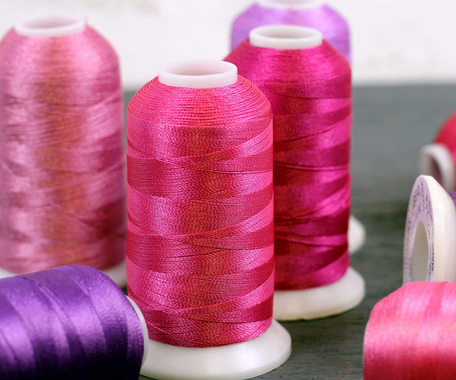 220 Colors Available 40wt 1000M 138 Medium Rose No Threadart Polyester Machine Embroidery Thread By the Spool