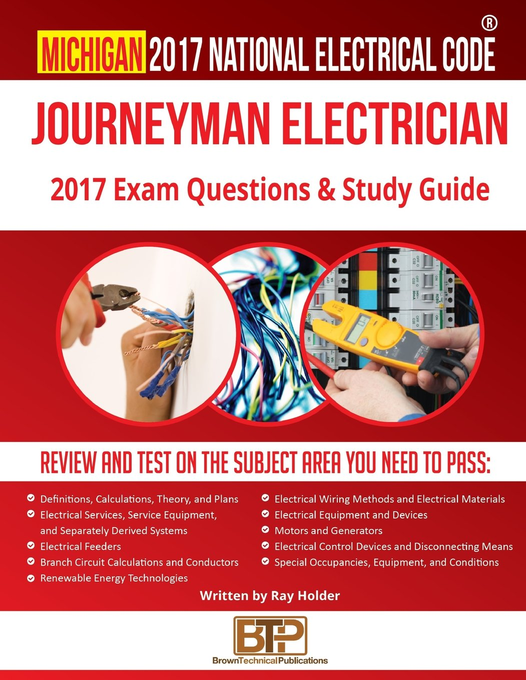 Michigan 2017 Journeyman Electrician Study Guide: Ray Holder, Brown ...