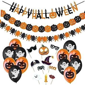 Jonami Decoracion Halloween Casa - Bandera Banderinas Happy ...