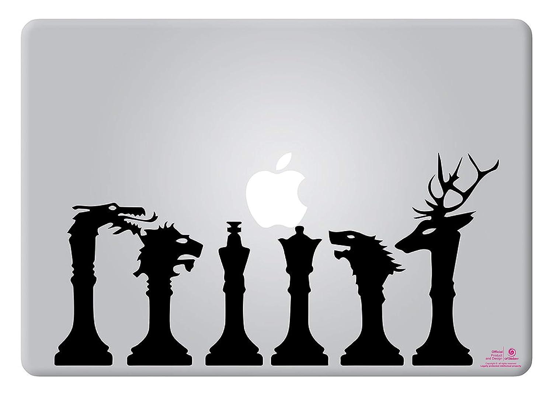 Pegatina para portatil de 11 y 13 Pulgadas Color Negro Marca Registrada Adhesivo para Apple MacBook Pro Air Mac Port/átil Artstickers Regalo Spilart Dise/ño Game of Thrones Piezas de ajedrez