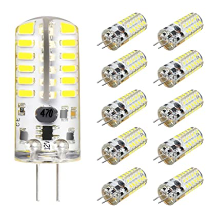 Amazon.com: vvwish(TM) paquete de 10 bombillas de LED G4 3W ...