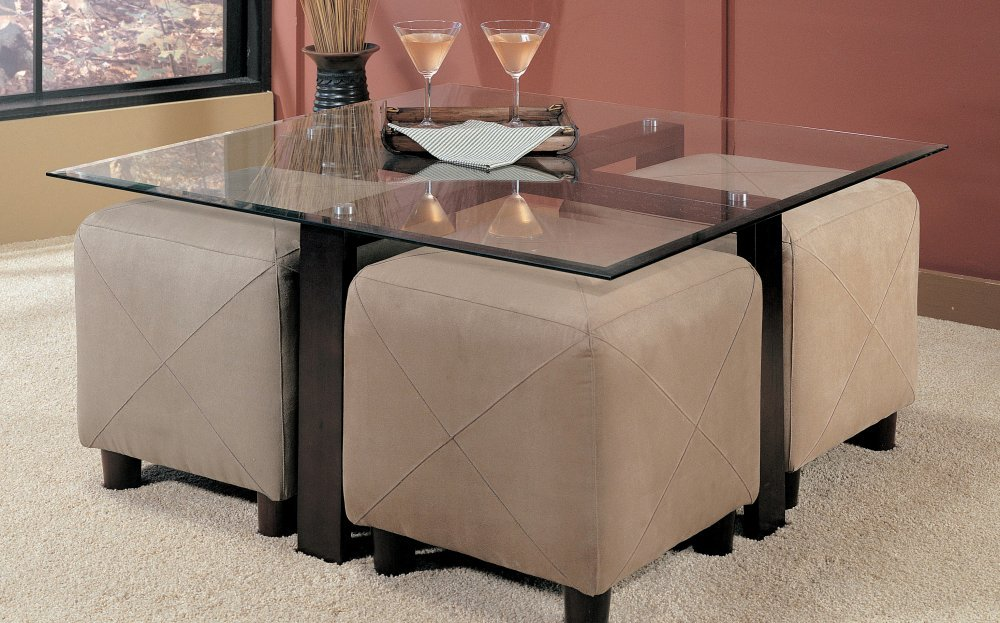 Amazon.com: Coffee Table With Beveled Glass Top And Black Metal Frame:  Kitchen U0026 Dining