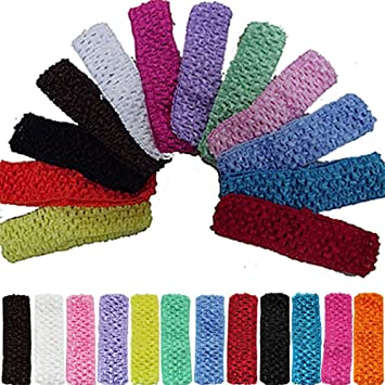 Image Unavailable. Image not available for. Color  12pcs 1.5 quot  Elastic  Crochet Headbands Hair Bands ... d71c190af18