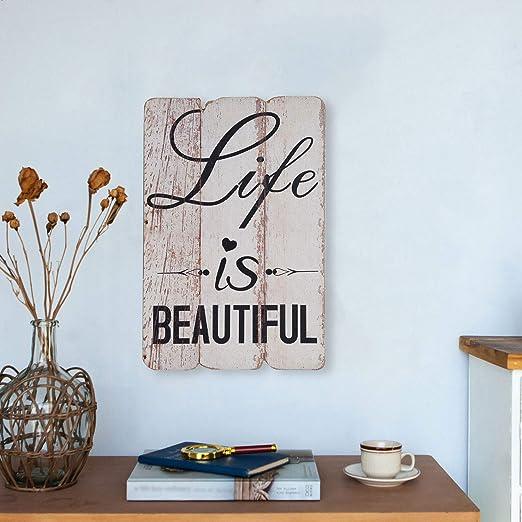 Nikky Home Plaque murale avec citation