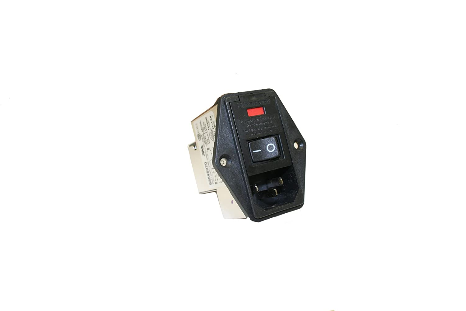 Filter 120//250VAC Voltage Rating Double Fused Interpower 83545070 Four Function Medical Grade Module Switch 10A Current Rating C14 Inlet