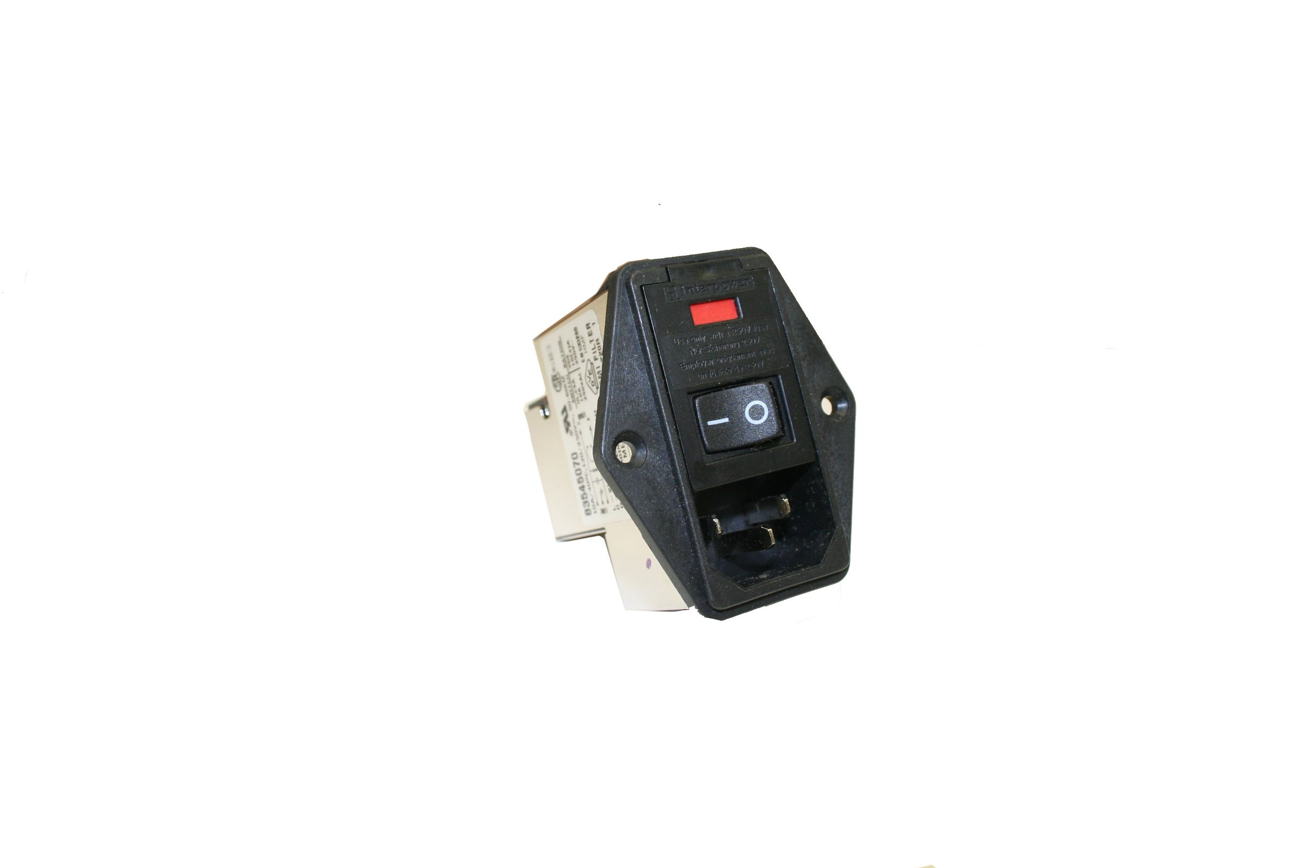 Interpower 83545070 Four Function Medical Grade Module, C14 Inlet, Switch, Double Fused, Filter, 10A Current Rating, 120/250VAC Voltage Rating